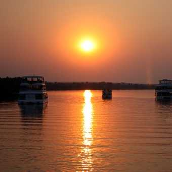 Island Camp dock & Thamalakane River