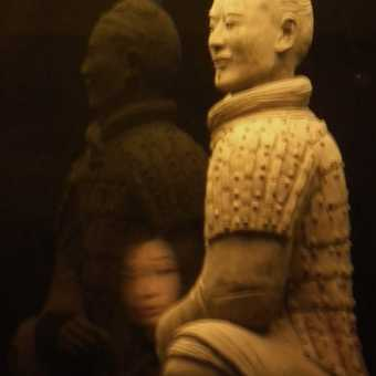 Xian warrior with bystander