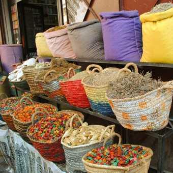 Spice stalls in Marrakesh