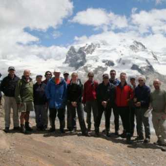 Group in front of Gornergletscher