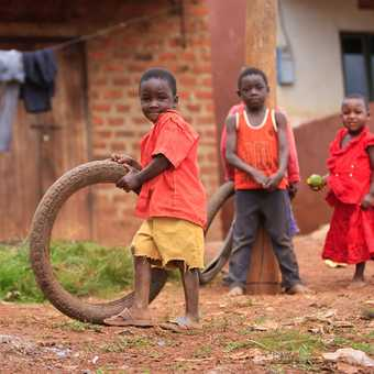 Kids in Uganda playing