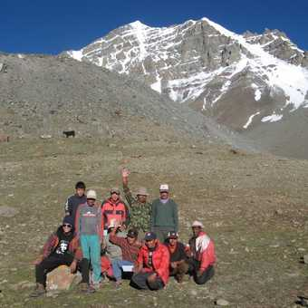 The staff, in front of Stok Kangri