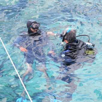 Me diving for the first time - What fun!