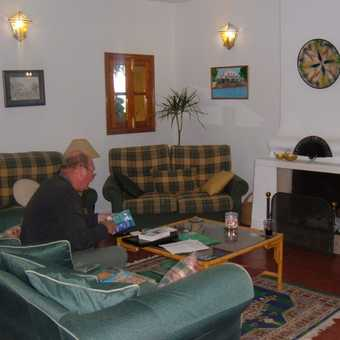 Relaxing in the Cortijo lounge