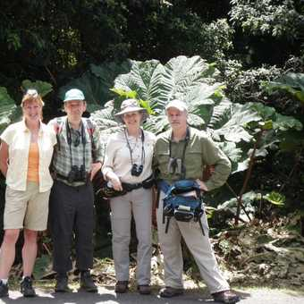 Group on Volcan Poas trail