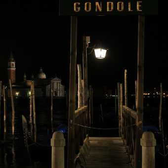The gondola station sleeps for the night