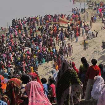 Village preparing to bathe