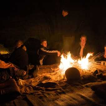 Camp fire, Wadi Rum