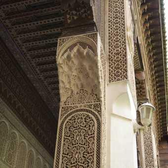 Stucco masterpiece, Palais de la Bahia, Marrakech