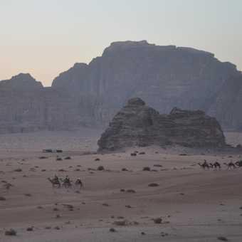 Twilight in Wadi rum