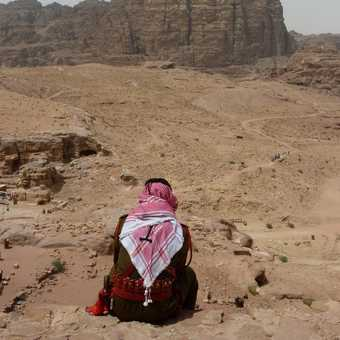 Guard watching over Petra