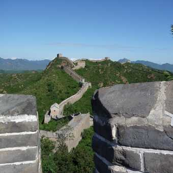Nice view of the Great Wall, clear skies, a gem of a day.