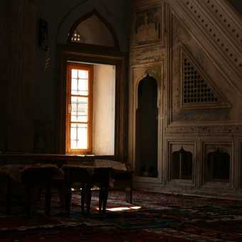 Inside a mosque in Mostar