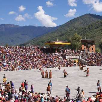 Dancing Monk Thimphu Festival