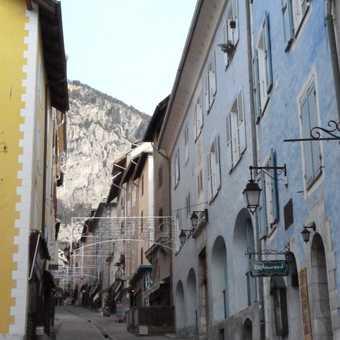 main narrow street through the old town of Briancon