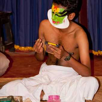 Kathakali Dance - making up