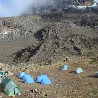 The most scenic camp site on the trip