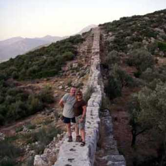Dave and Zoe at aquaduct