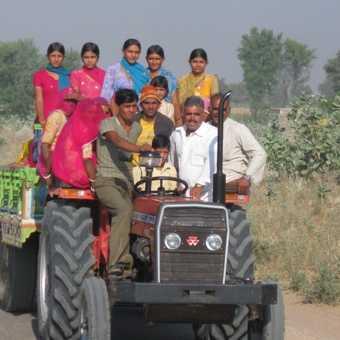 Winnowing grain in Thar desert