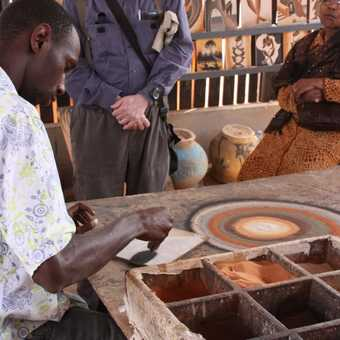 Sand painting on Goree Island