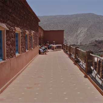 Balcony of gite