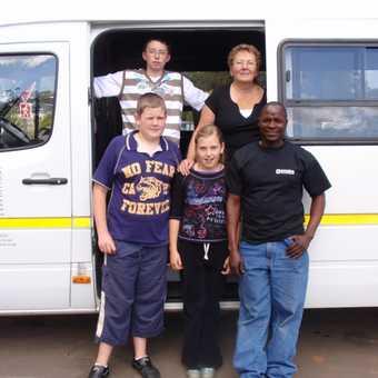 Anton & our mini bus