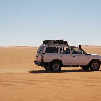 Zooming across the desert