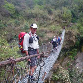 31/3 suspension bridge over Hinku River and I