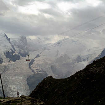 Neil Pittaway View of the Aguille Du Midi from Bosson Camp near Chamonix