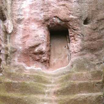 Cave church door - Lalibela