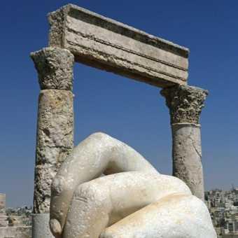 Colossal hand & columns, Amman museum