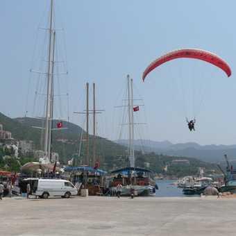 Landing in Kas marina