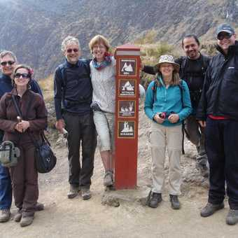 We are all pleased to reach the top of Dead Woman pass (4215m)