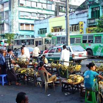 Street market in Rangoon