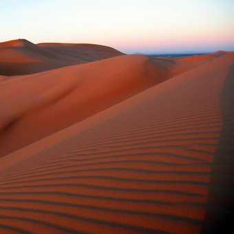 Sunrise on Erg Chebbi dunes