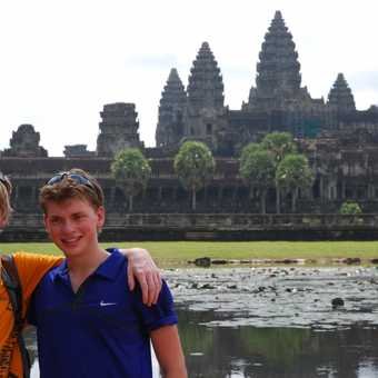 Nick and Matt in front of Angkor Wat