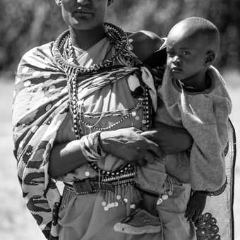 Masai mother with her son