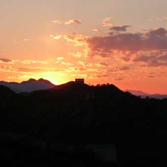 Sunset on the Great Wall of China