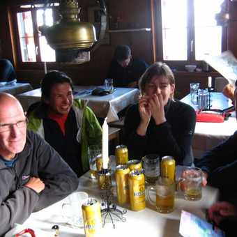 In the Rothorn hut