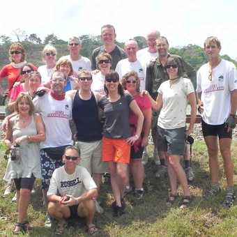 Our group by the Panama Canal