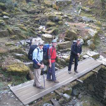 30/3 Aussies on trail, Peter, Mark & Ron