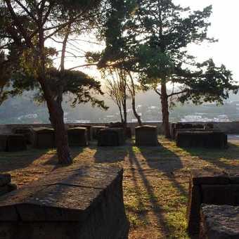 Evening sun at the citadel, Lipari town