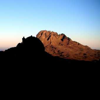 Sunset and Moonrise - Kibo Huts