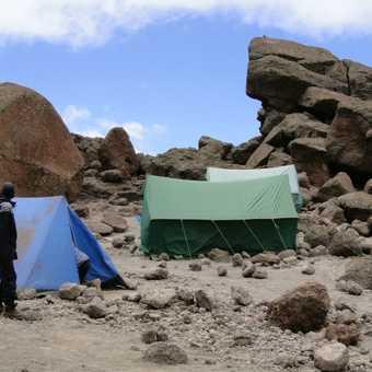 Last campsite - Kibo Huts