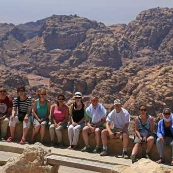 Group photo above Petra