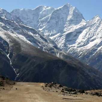 Shyangboche airstrip near Everest view hotel