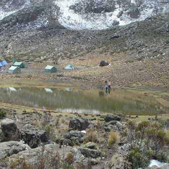 Arrival at Mawenzi Tarn camp site