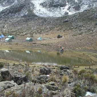 Arrival at Mawenzi Tarn camp site