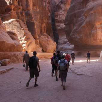 Along the siq to the Treasury at Petra