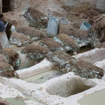 The tanneries of Fes.